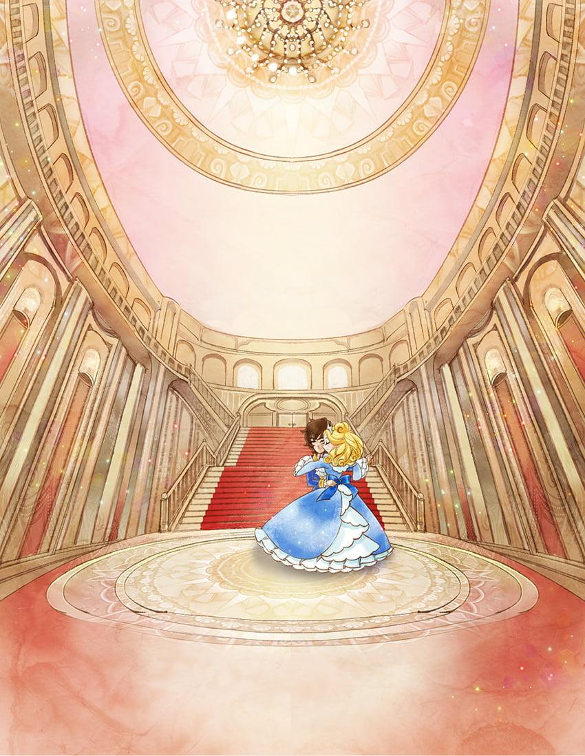 舞踏会で踊る王子と脱毛デレラ
